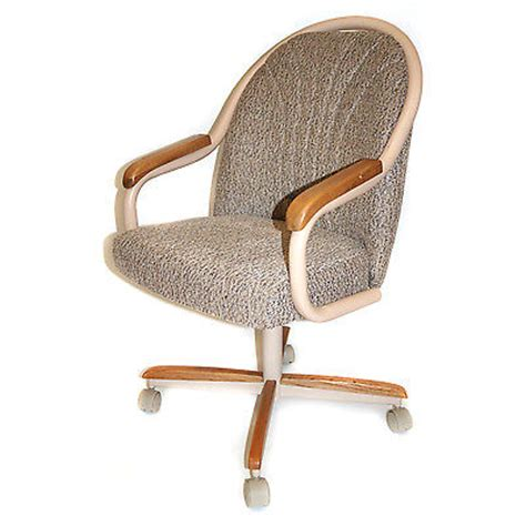 Casual Dining Cushion Swivel And Tilt Rolling Caster Chair Swivel Caster Dining Chairs