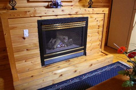 Link Log Fireplace by The Loft Bedroom With Skylight Picture Of Log