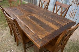 Unfinished Wood Kitchen Island barnwood beam leg barn door table