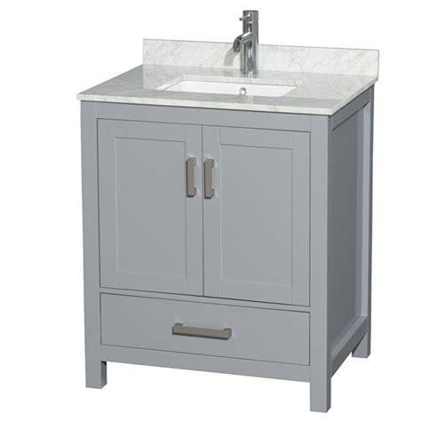 30 bathroom vanity with sink shop wyndham collection sheffield gray undermount single