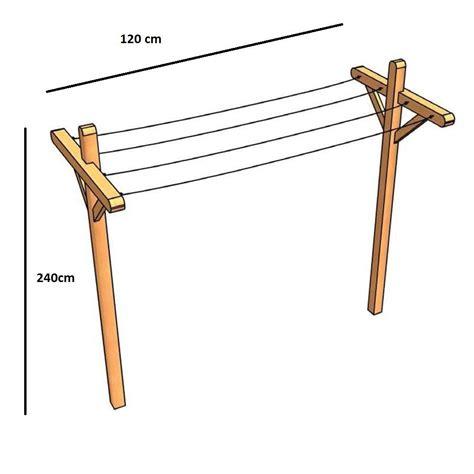 Fabriquer Un étendoir à Linge Extérieur by Fabriquer Un Etendoir A Linge Exterieur En Bois