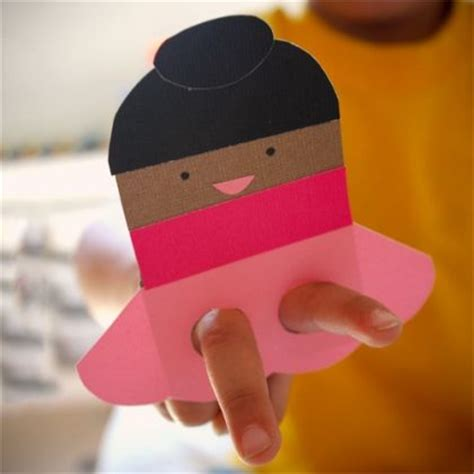 Paper Puppet For - and ballerina paper finger puppets