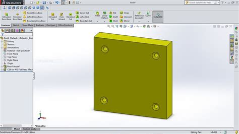 solidworks tutorial hole wizard solidworks tutorial how to use hole wizard youtube