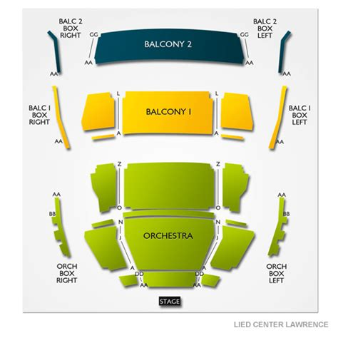 lincoln lied center lied center seating chart lied center for performing