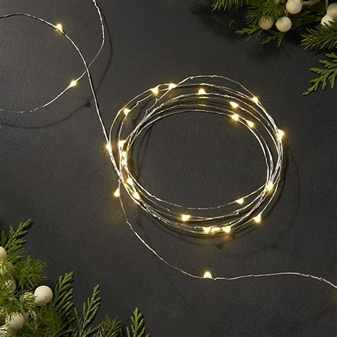 10 string lights twinkle silver 10 string lights crate and barrel