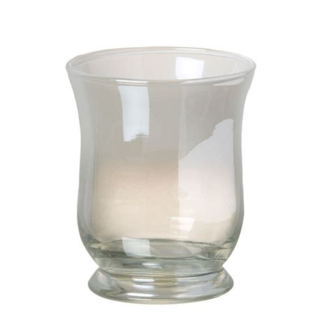 Glass Hurricane L by Cut Glass Hurricane L With Candle 30cm