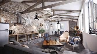 Formidable Bois Et Salon Design #2: poutres-apparentes-ambiance-rustique-maison.jpg