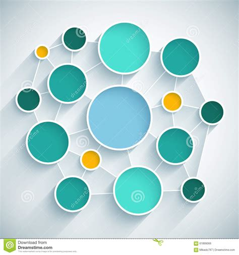 scheme design infographics network flat design scheme with blue stock