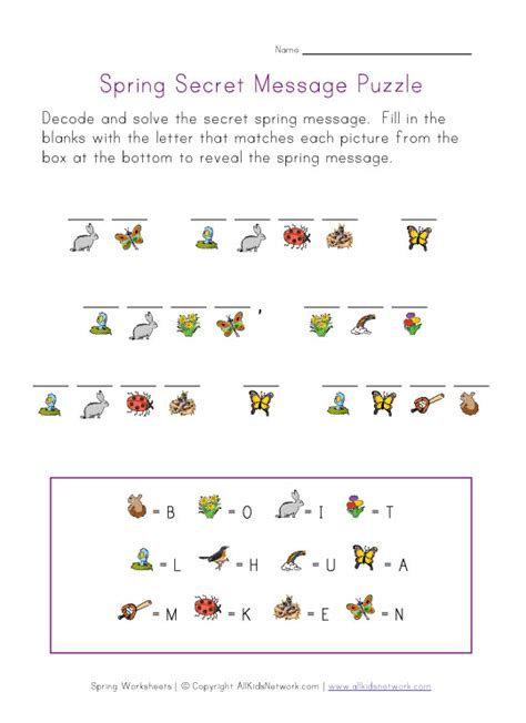 free printable word search puzzles with hidden messages spring picture cryptogram puzzle