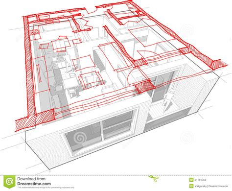 floor diagram apartment diagram with floorplan diagram stock