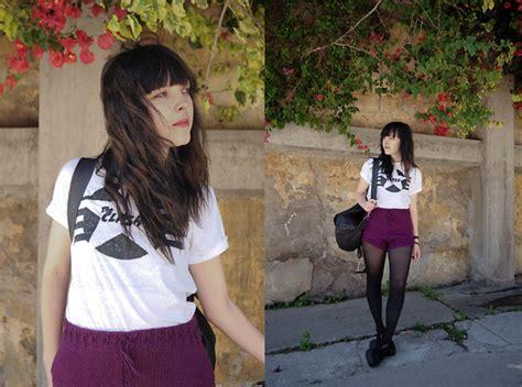 interview with fashion designer mika hikari costume diy mika b i burnt your clothes purple knit shorts diy