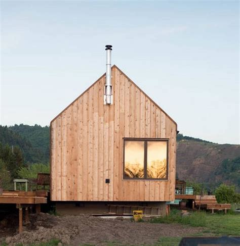300 Square Foot Cabin by Tiny Cabin Vacation On Organic Farm Near Portland