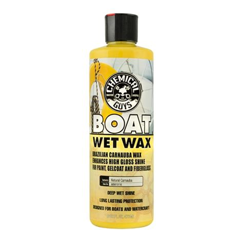 natural boat wax chemical guys mbw10116 marine and boat wet wax 16 oz