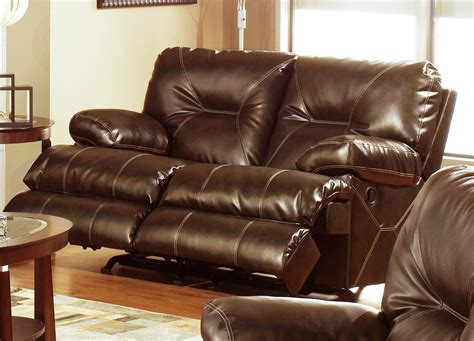 Leather Rocker Recliner Loveseat by Catnapper Cortez Bonded Leather Dual Rocking Reclining