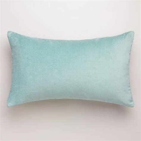 Blue Lumbar Pillow by Blue Surf Velvet Lumbar Pillow World Market