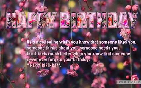 Birthday Wallpaper With Quotes Happy Bday Quotes Quotesgram