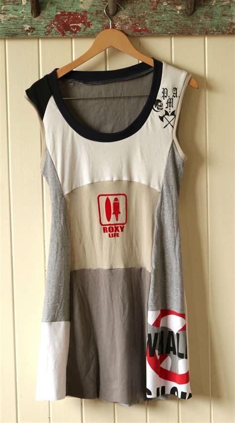 shirt upcycle sale upcycled patchwork shirt dress felt