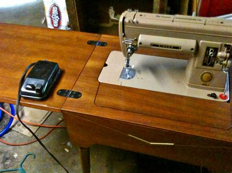 singer sewing machines that fit in cabinets 1951 singer 301 sewing machine with cabinet table