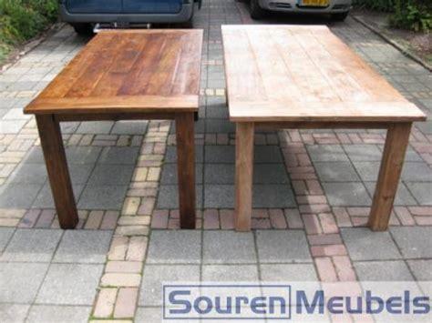 eiken meubels lak verwijderen donker eiken teak meubelen lichter maken tafel kopen