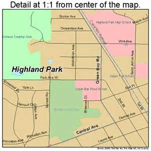 highland park illinois map 1734722