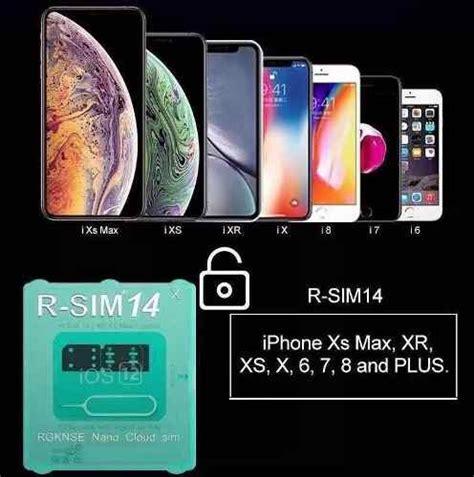 rsim 14 desbloqueio iphone xs max xr x 8 7 6 6s gevey ios 12 u s 19 99 en mercado libre