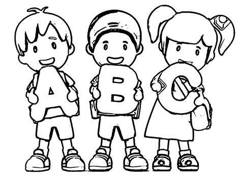 abc color back to school coloring pages best coloring pages for