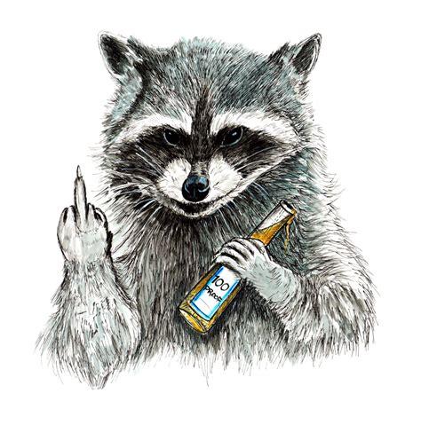 Raccoon Stickers rude raccoon home office c decor decal