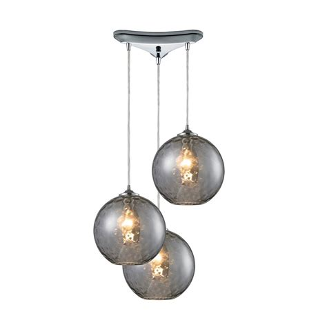 Three Light Pendant Modern Multi Light Pendant Light With Grey Glass And 3 Lights 31380 3smk Destination Lighting