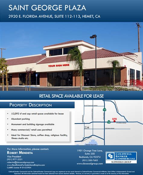 Retail Space for Lease   Hemet   Commercial Real Estate