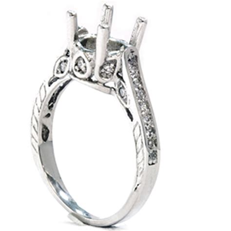 1 3ct vintage 14k white gold engagement ring