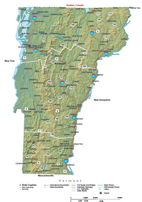 map of vt vermont state map
