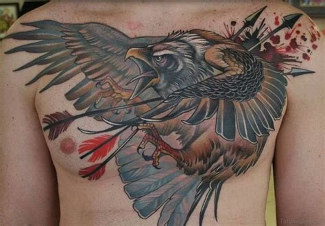 screaming eagle tattoos designs 41 realistic eagle tattoos on chest