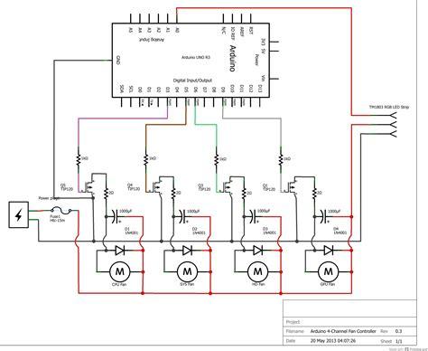 pwm fan controller automatic 4 channel pwm pc fan controller emc2arduino