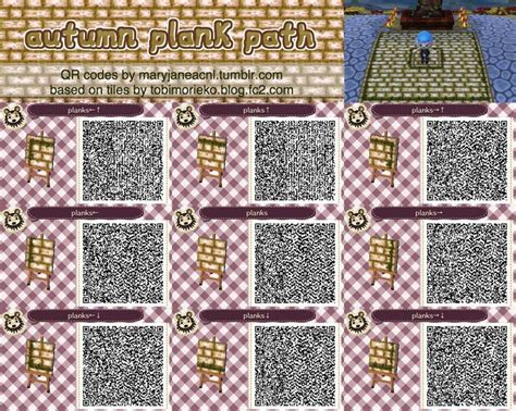 acnl flower qr codes paths acnl qr codes acnl path accent tiles designs