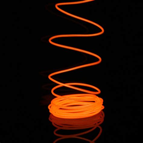 Neon Light El Wire buy 2m neon light glow el wire car rope car charger driver bazaargadgets