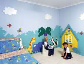 Painted Wall Murals For Kids Wall Painting For Kids Bedroom Interior Designing Ideas