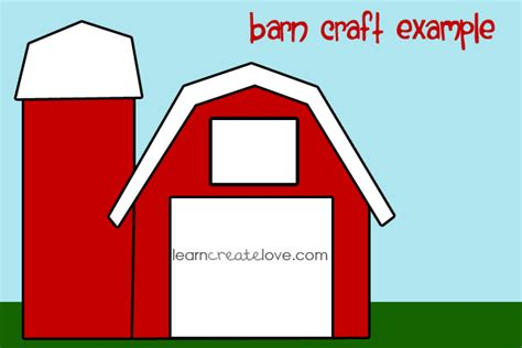 barn template printable barn craft