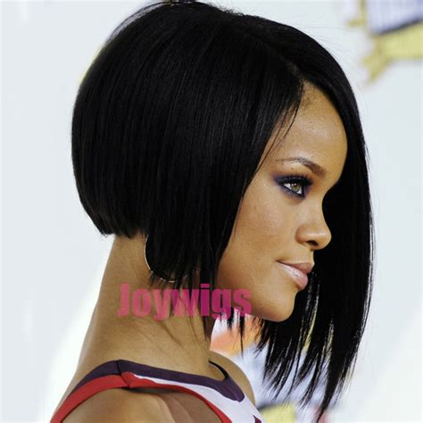 bob wigs human hair black women 2016 rihanna style short layered bob hairstyles lace human
