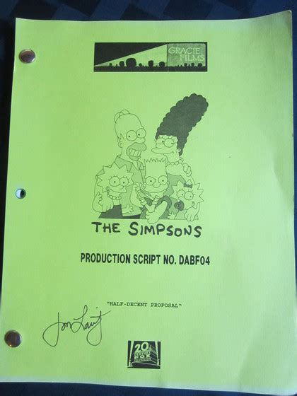 Simpsons Signed Boots Up For Auction For Charity by Charitybuzz The Simpsons Production Script Autographed By