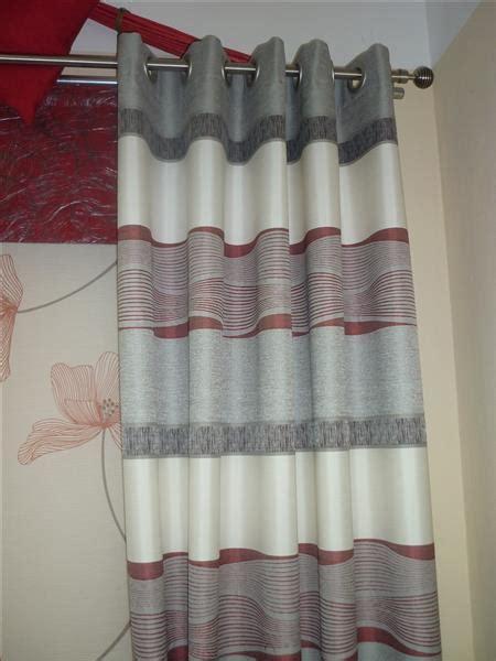 vorhang grau weiß gestreift vorh 228 nge wohnzimmer wei 223