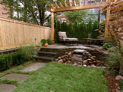Water Features For Small Backyards by Small Backyard With Water Feature Nature Landscape