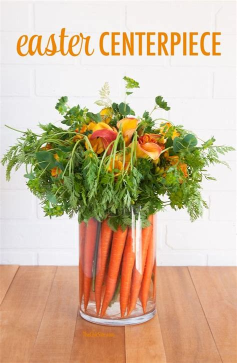 love this idea for an easter centerpiece made with carrots