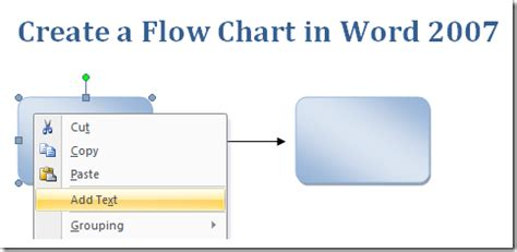 flowchart in word 2007 create a flow chart in word 2007