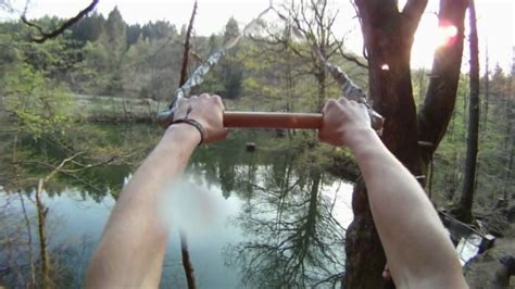 how to build a rope swing into water rope swing and tree jumps into small cold lake youtube