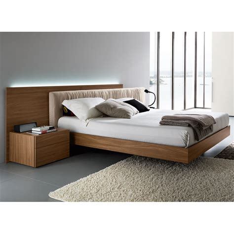 floating bed edge walnut 4 piece bedroom set floating bed dcg stores