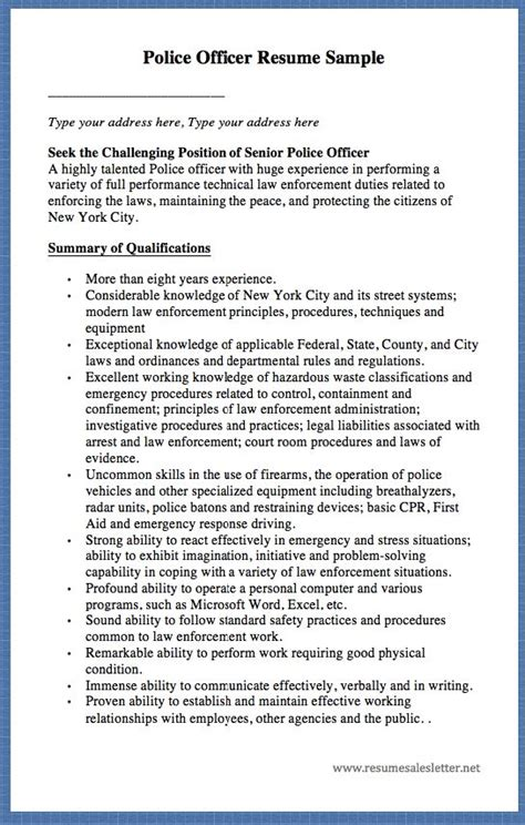 Cbp Officer Description by Customs Border Protection Officer Resume