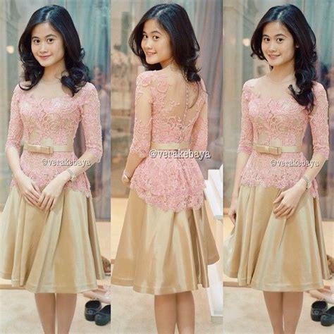 desain gaun untuk perpisahan 50 gambar model baju kebaya modern lengan pendek sabrina