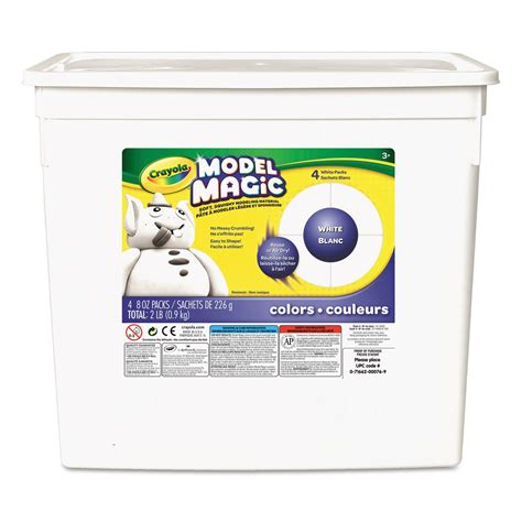 crayola model magic white modeling compound tools 2 lb resealable for