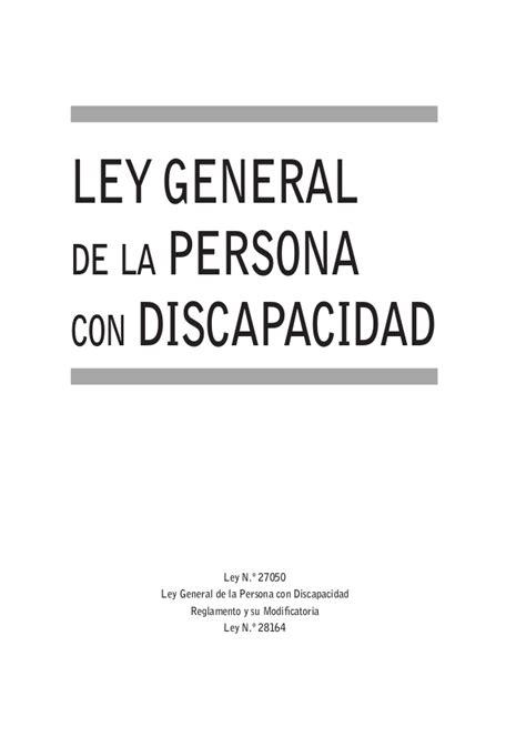or 237 gen de la la ley general de derechos de las personas con ley general