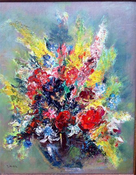 fiori nel vaso ernst huber natura morta di fiori nel vaso